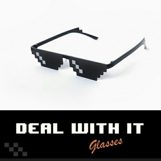 Óculos De Pixel Thug Life - Turn Down For What ! Meme Mito