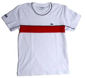 af81f16fad Camiseta Lacoste Masculina Listrada De - Calçados