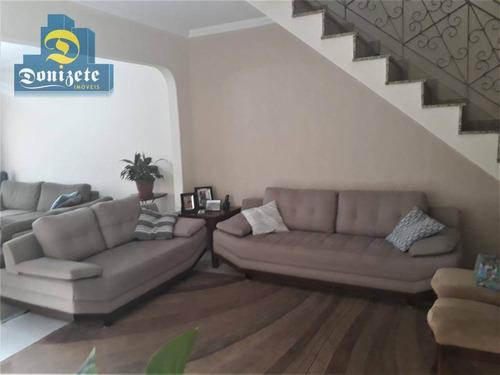 Sobrado À Venda, 169 M² Por R$ 571.000,00 - Vila Tibiriçá - Santo André/sp - So2186