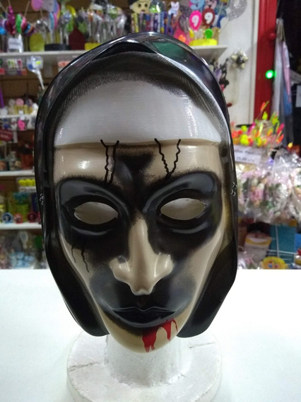Mascara La Monja Plastica Halloween Cotillon X1