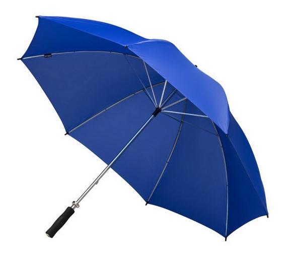Paraguas Golf Azul Francia Reforzado Con Sistema Wind Proof Anti Viento Estructura Metálica