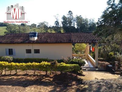 Chácara Rica Em Água Com Lago, Pomar, 03 Dormitórios À Venda, 4800 M² Por R$ 310.000 - Rural - Socorro/sp - Ch0466