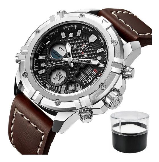 Relógio Golden Hour Gh-110 Original Com Estojo E Nota Fiscal