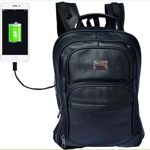 Mochila Notebook 15.6 Impermeável Dell Hp Apple Saída Usb