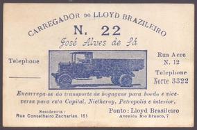 Cartão De Visita - Carroças A Frete / Carregador Do Lloyd