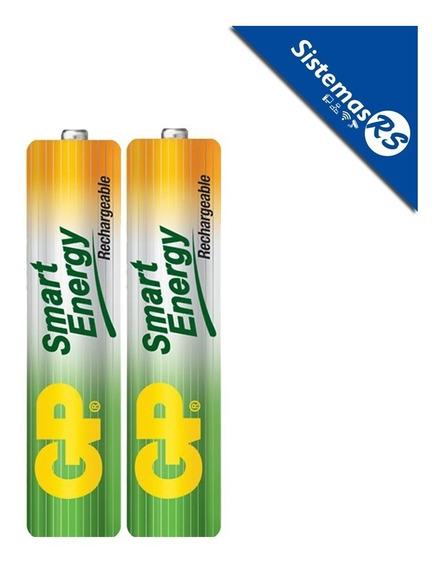 Pack X2 Baterias Pilas Aaa Smart Energy Gp Recargable 400mah