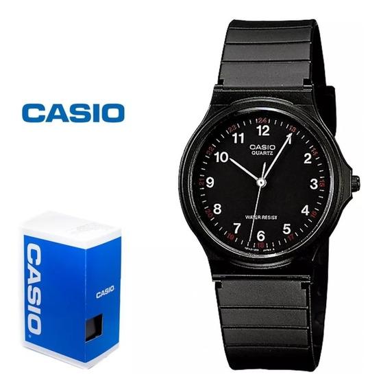 Reloj Casio Mq24 Mq24-1b Vintage - Negro / Plateado