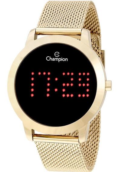 Relógio Champion Lançamento Digital Dourado Redondo Cx E N.f
