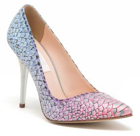 Zapatos Zapatillas Andrea De Colores Degradado Con Textura