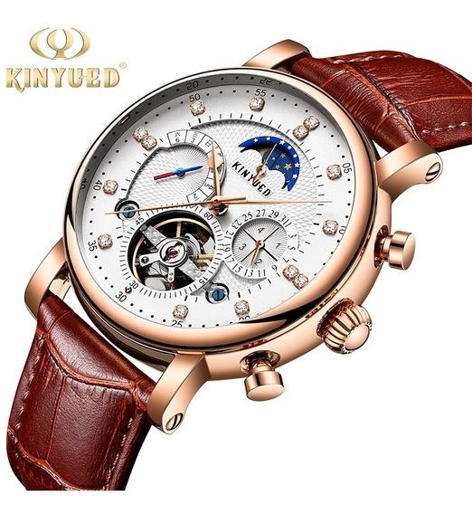 Reloj Para Hombre Automático Tourbillon Skeleto Kinyued J025
