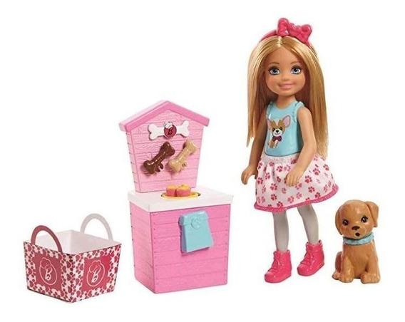 Barbie Chelsea - Boneca E Barraca Comida De Cachorro