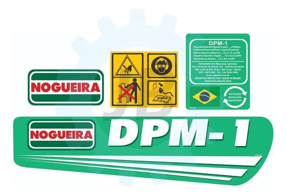 Kit Adesivos P/ Triturador Dpm-1 - Nogueira