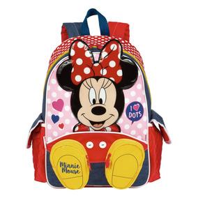 Mochila Infantil Escolar C/ Bolso Menina Minnie 18y 65003 G