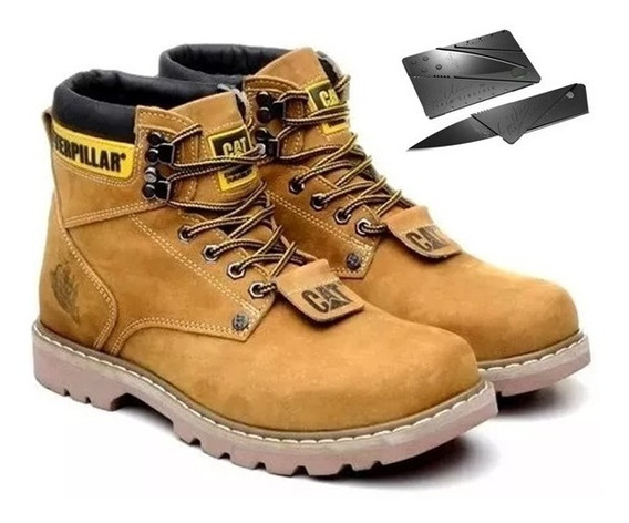 Bota Coturno Botina Caterpillar Couro Legitimo Cat Original