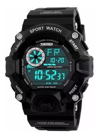 Relógio Masculino Esportivo Militar Shock Digital Black Orig