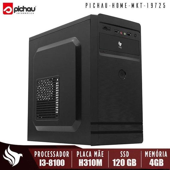 Computador Home Office Pichau, Intel I3-8100, 4gb, Ssd 120gb
