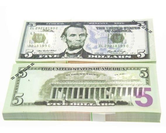 10 Pçs / Set Único Americana Florete Ouro Dólar Notas Fal