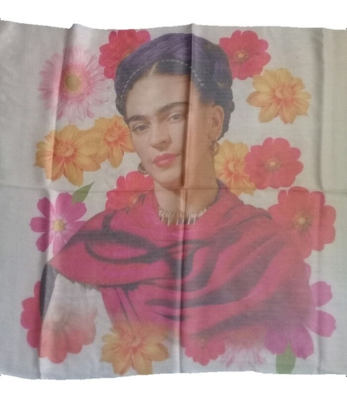 Rebozo Chalina Pashmina Frida Kahlo Flores Mariposas