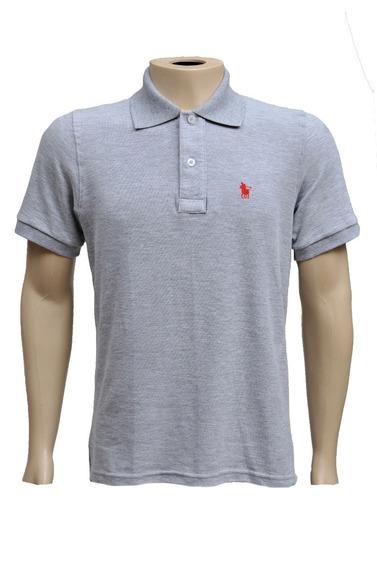 Camisa Gola Polo Masculina Coloridas Algodão Com Botão 6008