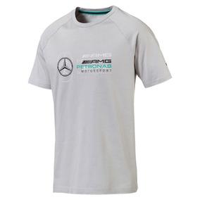 Camiseta Puma Mercedes Logo Tee Masculina Cinza