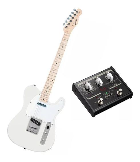 Guitarra Fender Tele Mn506 White + Pedaleira De Efeitos Vox