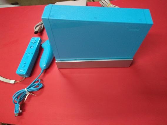 Nintendo Wii Azul Blue Limited Edition U.s.a