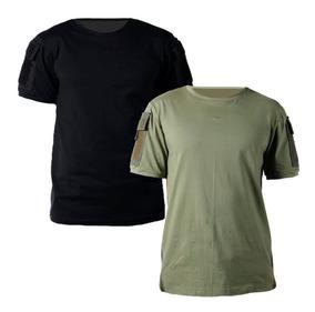 Kit 2 Camisetas Táticas T-shirt Ranger Com Bolso Bélica