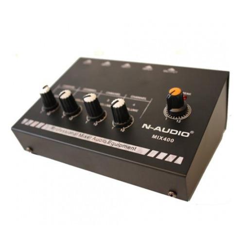 Mixer Dj N-audio Mix400 Mini De Linea De 4 Canales + Master