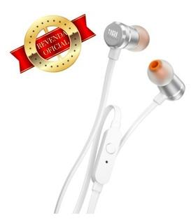 Fone De Ouvido Jbl T290 Silver In Ear Estéreo C/ Microfone