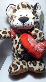 Peluche Animales C/corazon Y Sonido 37cm Sobreruedasjuguetes