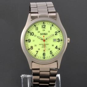 Relógio Masculino Quartz Soki Com Mostrador Luminescente