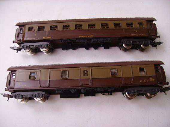 # Jjh Lima Set 2 Vagones Ferrocarriles Italianos Nuevos Ho