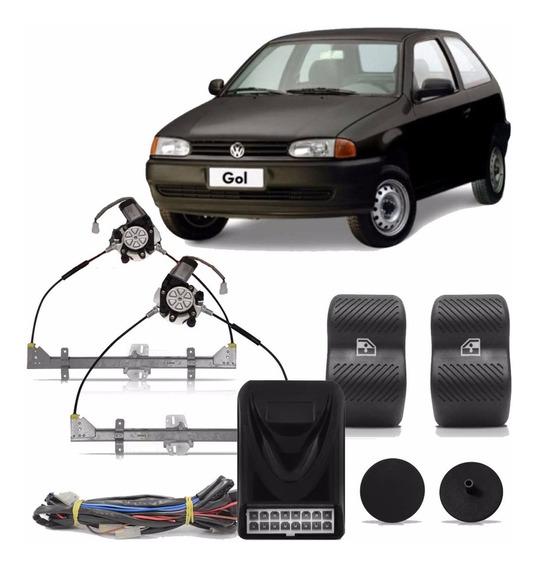 Kit Vidro Elétrico Sensorizado Gol Bola Parati G2 1995 1996 1997 1998 1999 2000 2 Portas Porta Módulo Sensorizado Painel