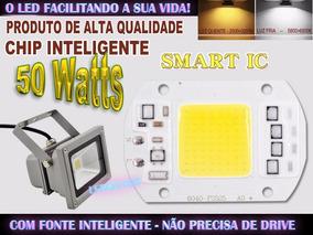 Led Chip Cob 50 Watts Impermeável C/ Fonte Inteligente!