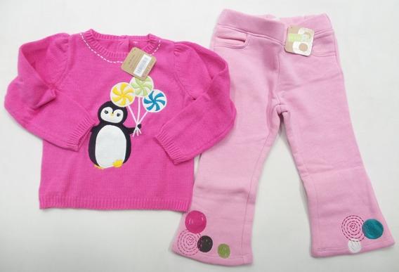 Conjunto Infantil Crazy8 18-24meses Suéter E Calça Fleece