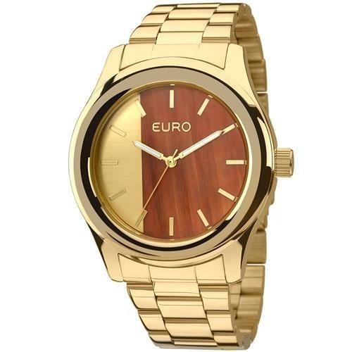 Relógio Euro Feminino Madeira Fashion Eu2036maa/4d