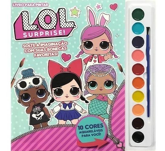 Livro Infantil Para Colorir Com Aquarela Bonecas Lol