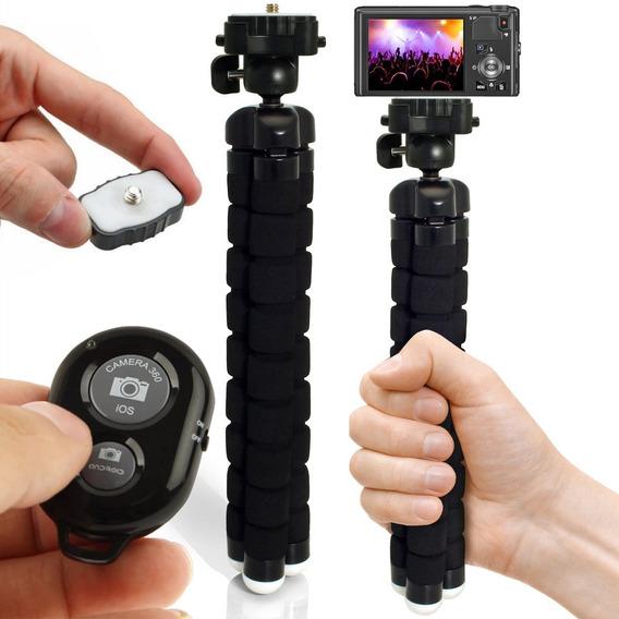Bastão Monopod Com Disparador Bluetooth Pau De Selfie Tripé
