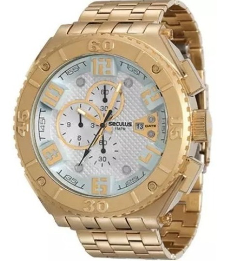 Relógio Seculus Masculino 20357gpsvda1