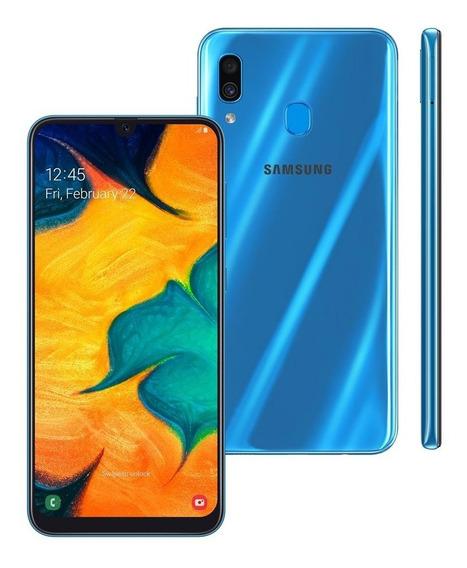 Smartphone Samsung Galaxy A30 A305g 64gb 4gb Ram 16mp Azul