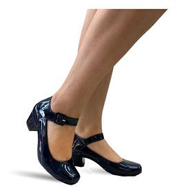 2b6235e51 Sapato Boneca Azul Marinho - Sapatos com o Melhores Preços no ...