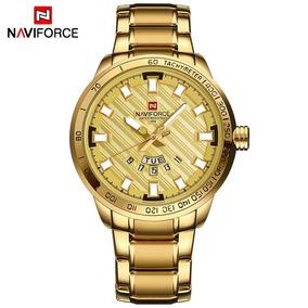 Relógio Naviforce Masculino 9090 Luxo Calendário Estiloso