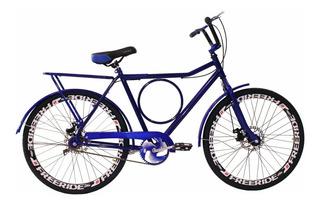 Bicicleta Barra Circular Aro 26 Com Freios A Disco