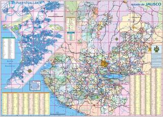 Mapa Mural Del Estado De Jalisco Carreteras 90x125cm