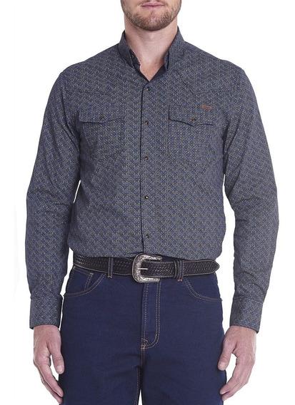 Camisa Masculina M/l Regular Wester Marinho Tassa Social