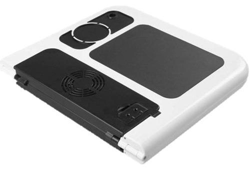 Dobrável Mesa Notebook Com Cooler Suporte Base Mouse Copo