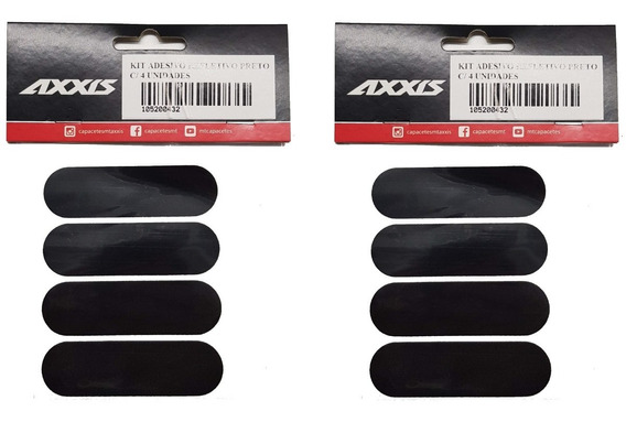 2 X Kit Adesivos Refletivo Para Capacete Moto Cor Preto