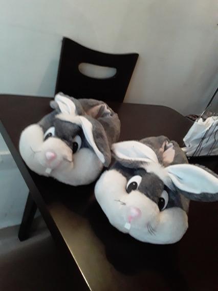 Pantuflas De Peluche Con Forma De Conejo