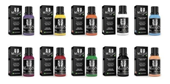 Tintas Master Ink 30ml Set 10 Tintas Tatuagem Tattoo