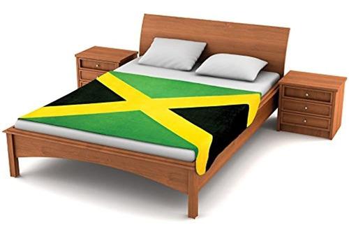 Borroso Flagstm  Manta De Forro Polar De Bandera Jamaicana 8